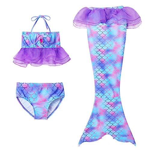 Meisjeszwempak Strand Zeemeermin Zeemeerminstaart Bikinibroekjes 3 stuks