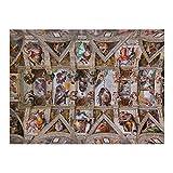 Promini de Madera de Techo 500 Piezas Capilla Sixtina de Miguel Ángel Rompecabezas Daily Jigsaw Puzzle Juegos para Adultos y niños