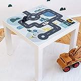 Limmaland Möbelaufkleber Straßen - passend für IKEA Lack Beistelltisch - Kinderzimmer Spieltisch - Möbel Nicht inklusive