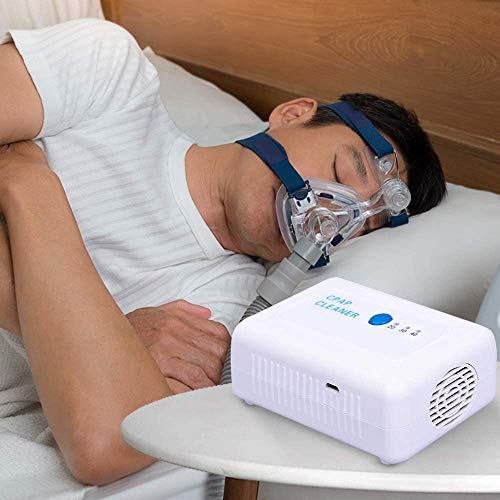 带袋和适配器的CPAP清洁器,用于旅行和家庭的CPAP人工呼吸器睡眠呼吸器安静,便于携带空气清洁睡眠呼吸式呼吸器