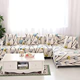 Vagasi 1/2/3/4 Seater Sofa Cover Home Décor Stretch Elastic Sofa Slipcover Couch Cover, Dandelion 4-Seater 92-118inch