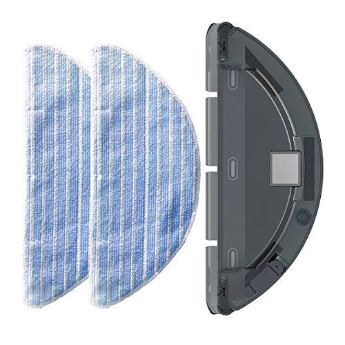 dibea Ersatz-Zubehör-Sets, 2 Reinigungstücher, 1 Wassertank für D500Pro Roboter-Staubsauger