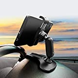 HORDZOOM Car Phone Holder Mount Strong Clip Non-Slip HUD Dashboard Cell Phone Mount Stand for Car Compatible with iPhone Samsung Galaxy LG Nokia etc
