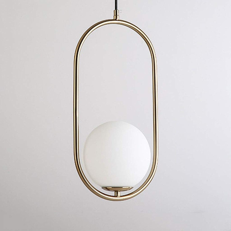 Lustre Jiaqi mode lustre en fer forgé doré de qualité supérieure moderne minimaliste salon chambre restaurant restaurant café lustre en verre A ++ Lustre réglable (Couleur   A)