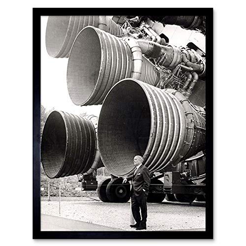 Space NASA Von Braun Saturn V F-1 Rocket Thrusters Photo Art Print Framed Poster Wall Decor 12x16 inch Spazio Razzo Fotografia Manifesto Parete