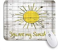 NIESIKKLAマウスパッド あなたは私の太陽です感動的な引用カラフルな太陽 ゲーミング オフィス最適 高級感 おしゃれ 防水 耐久性が良い 滑り止めゴム底 ゲーミングなど適用 用ノートブックコンピュータマウスマット