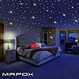 Glow in The Dark Stars for Ceiling or Wall Stickers - Glowing Wall Decals Stickers Room Decor Kit -...