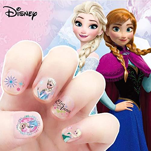 BLOUR Ragazze Frozen Elsa e Anna Makeup Toys Adesivi per Unghie Disney Princess Sophia Mickey Minnie Bambini Orecchini Adesivi Giocattoli