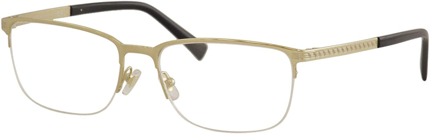 Versace Men's Manufacturer OFFicial shop Eyeglasses VE1263 VE 1263 Free shipping anywhere in the nation Optic Half 1002 Gold Rim