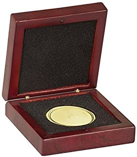 Decade Awards Rosewood Finish Medal - Challenge Coin Wood Presentation Box with Foam Insert