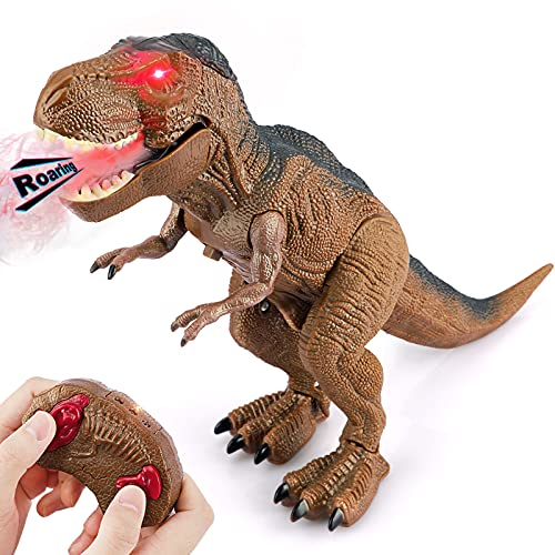 Baztoy Dinosaurios Juguetes, Dinosaurio Teledirigido con Movimiento, Luz y Rugido...