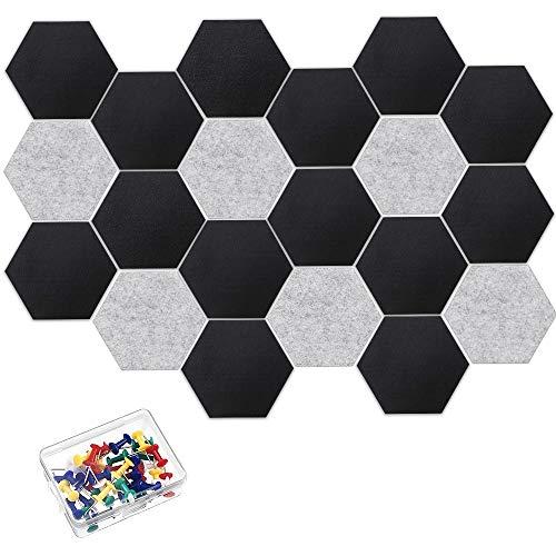 CestMall - 20 piezas de tablero de fieltro hexagonal para bricolaje, azulejos de fieltro...