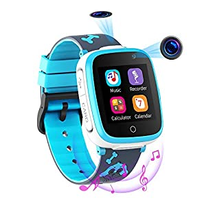 Kids Smartwatch with 2 Cameras SOS Two Way Call HD Music Player 7 Puzzzle Games 1.54 Touchscreen Smart Watch for Kids 3-12 Years Old Boys Girls Chilrdren Students Birthday