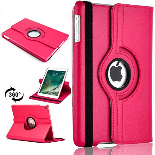 PU Leather Rotate Stand Case Cover For Apple iPad 10.2 2019/2020 8th/7th Gen A2428 A2429 (Pink)