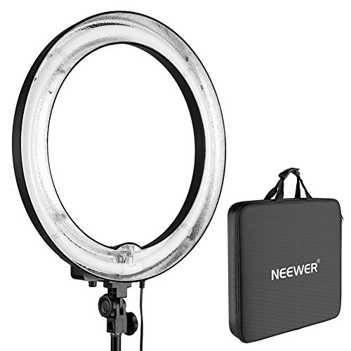 Neewer 18'Outer 14'Inner Un-dimmable Fluorescent Ring Light -75W 5500K for Portrait Photography, Youtube Video, Make-up, Selfie (Only Light)