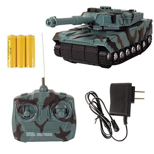 LOISK RC Panzer 2,4 Ghz Maßstab 1/24 Militär RC Tank mit Blinklichtern und naturgetreuen Klang 360 ° drehbarer Turm Geschenke für Kinder über 3 Jahre