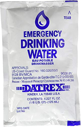 Datrex Emergency Water Packet 4.227 oz - 3 Day/72 Hour Supply (18 Packs)