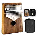 Neewer Kalimba Piano de Pulgar de 17 Teclas Piano de Dedo Kalimba Mbira Sanza con Caja Protectora Impermeable Martillo de Afinación e Instrucción Estudio Regalo de Instrumento Musical-Madera de Acacia