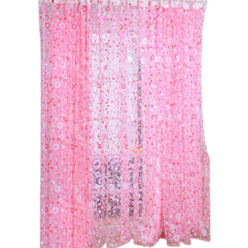 on brand Lixuejian Blumenmuster Voile Vorhang Raum Fenster Vorhang Divider Tür bloße Fenstervorhänge