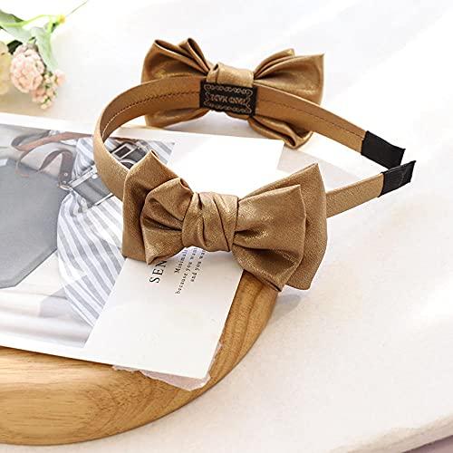 XINDUO Women Fashion Head Wrap Headband,Fashion solid color fabric bowl-Turmeric,Black Velvet Feel Hair Band Headband