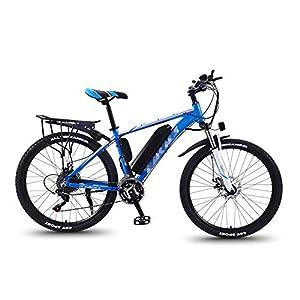 TANCEQI Fettreifen Fahrrad 26 Zoll Fetter Reifen Elektro 350 Watt 36V Schnee E-Bike 27 Geschwindigkeiten Elektrofahrräder Mountainbike E-Bike Für Erwachsene Herren Damen