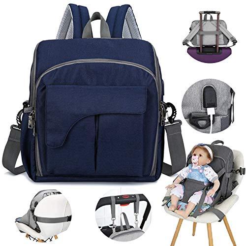 Baby luiertas rugzak, multifunctioneel, grote capaciteit, USB-opladen, baby zitzak fles isolatietas
