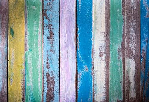 Colorato Grunge Tavola di Legno Struttura di Scena Del Bambino Fotografia Sfondo Personalizzato Sfondo Fotografico Per La Foto In Studio-150X100CM