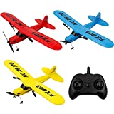RC Airplane YF-TOW 2.4GHz Remote Control Airplane with 6-Axis Gyro Easy to Fly Birthday for Beginner Kids Boys (Blue)