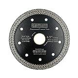 DT-DIATOOL Disco Tronzador Diamante 115 mm x 22,23 mm/20 mm Hoja de Sierra con Malla Turbo para Corte de Porcelanico Azulejos Mármol Granito...