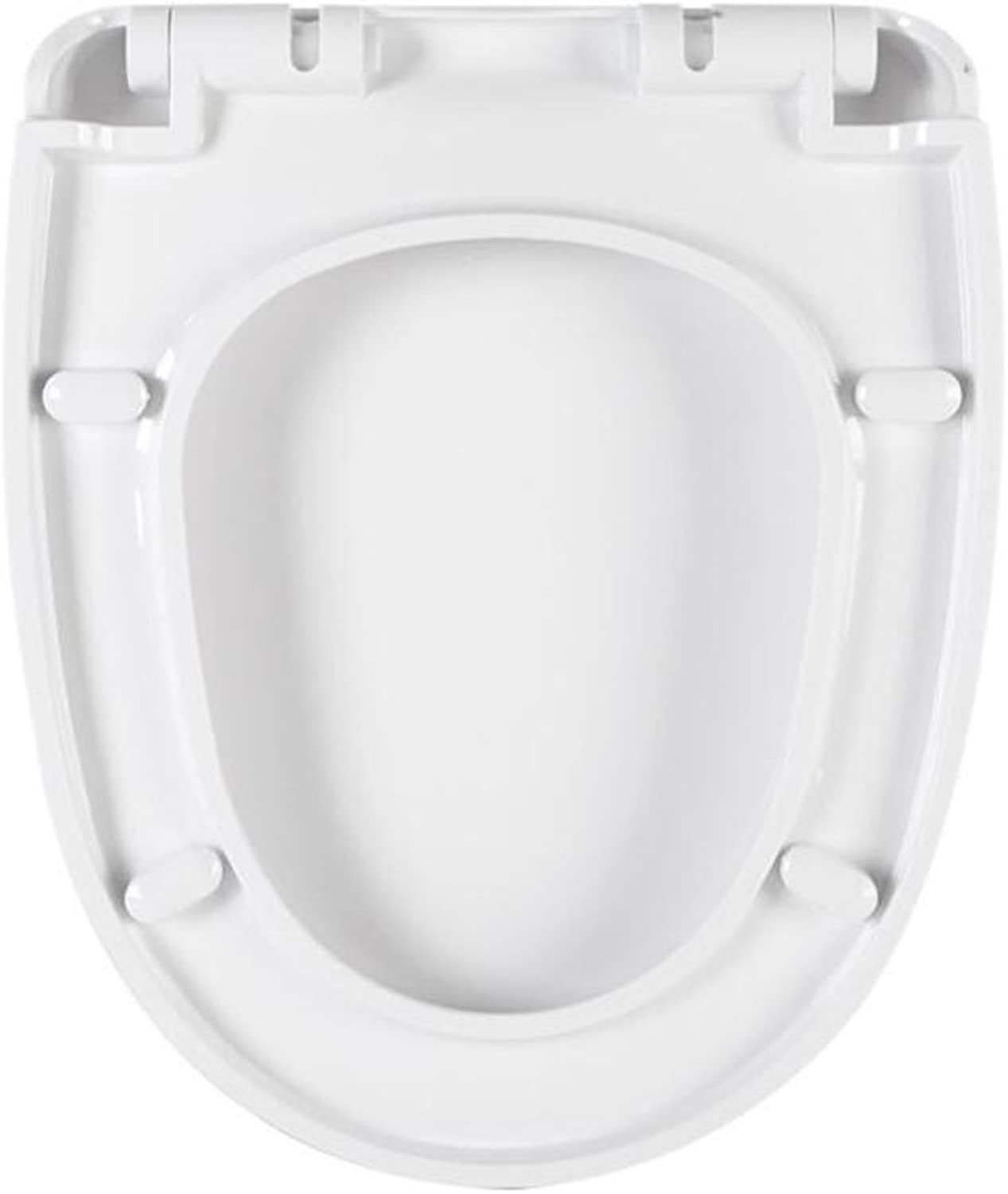 Toilet Seat U-shaped Thickened Cover Cover With Descending Toilet Plate Home,White-345  414mm