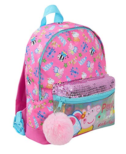 Peppa Pig Festival of Fun Fly a Kite Pink Mini Roxy Backpack - with Pocket