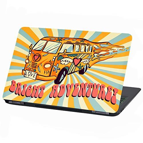 Laptop folie cover: Voertuig plakfolie notebook sticker beschermhoes zelfklevend vinyl skin sticker 15 Zoll LP 12 Hippie Car