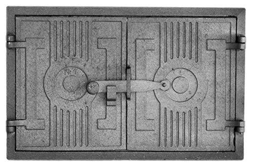 Home&Wood - Puerta para horno (44 x 33 cm, hierro fundido, para horno de piedra)