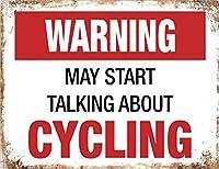 警告サイクリングバイク メタルポスタレトロなポスタ安全標識壁パネル ティンサイン注意看板壁掛けプレート警告サイン絵図ショップ食料品ショッピングモールパーキングバークラブカフェレストラントイレ公共の場ギフト
