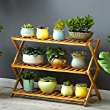 Magshion FOLDSHELF-01 Pot Plant Stand 4 Tier Flower Planter Rack Shelf Shelves Organizer Ga, 27.5'W x 29'H x 11.8'D