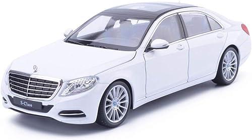 precioso Maisto Modelo Mercedes-Benz S500 de simulación, Modelos de Autos Autos Autos de tracción 1  24 de aleación, Modelos de Metal, vehículos de Juguete Modelos Escala Vehículos ( Color   blanco )  descuento de bajo precio