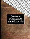 Cuaderno cuadriculado: madera oscura: papel cuadriculado A4 8x11 (Colección cuadernos papel cuadriculados textura del bosque tamaño A4 10 diseños exclusivos.)