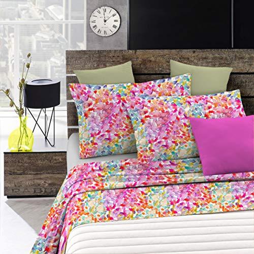 Italian Bed Linen Fantasy Completo Letto, Microfibra, Multicolore (Spring), Singolo