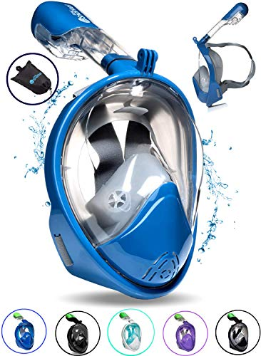 PRODIGY Full Face Snorkel Mask Adult Kids – 180° Panoramic...
