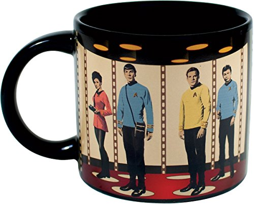 Star Trek Transporter Heat Changing Mug - Add Coffee or Tea and Kirk, Spock, McCoy and Uhura Appear...