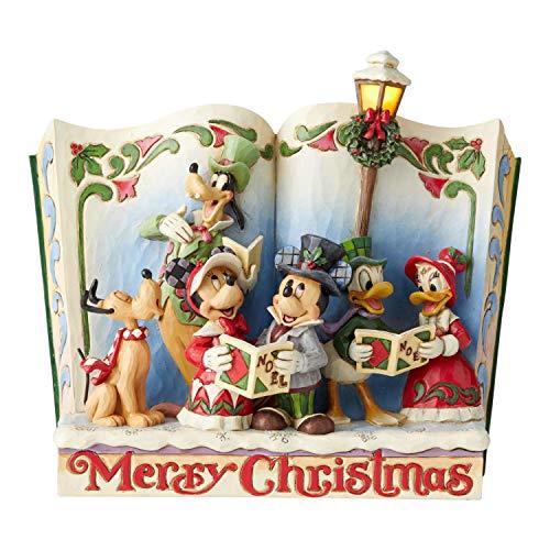 Disney Traditions, Figura con forma de libro de Mickey y amigos, para coleccionar, Enesco