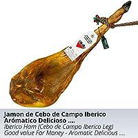 Jamon de Cebo de Campo Iberico Raza 50% Iberica - Jamon Iberico de Elaboracion Artesanal - Embutidos Ibericos de Bellota - Pieza Tradicional 7.5 - 8 kg