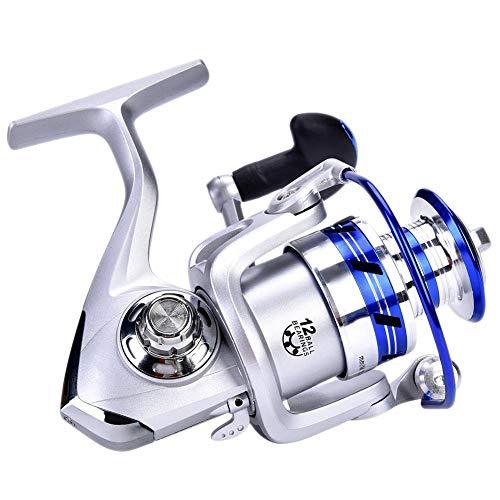 Keenso Equipo de Pesca, Carrete de Pesca de Alta Velocidad DEUKIO de Alta Velocidad 7.1: Carrete Giratorio de Carrete de Partido 1 para fundición rápida(AL4000)