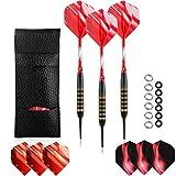 Freccette rosse morbide con punta in plastica, freccette morbide da 18 grammi, frecce per freccette da 18 g, 6 alette per freccette e 10 pezzi intercambiabili 2ba