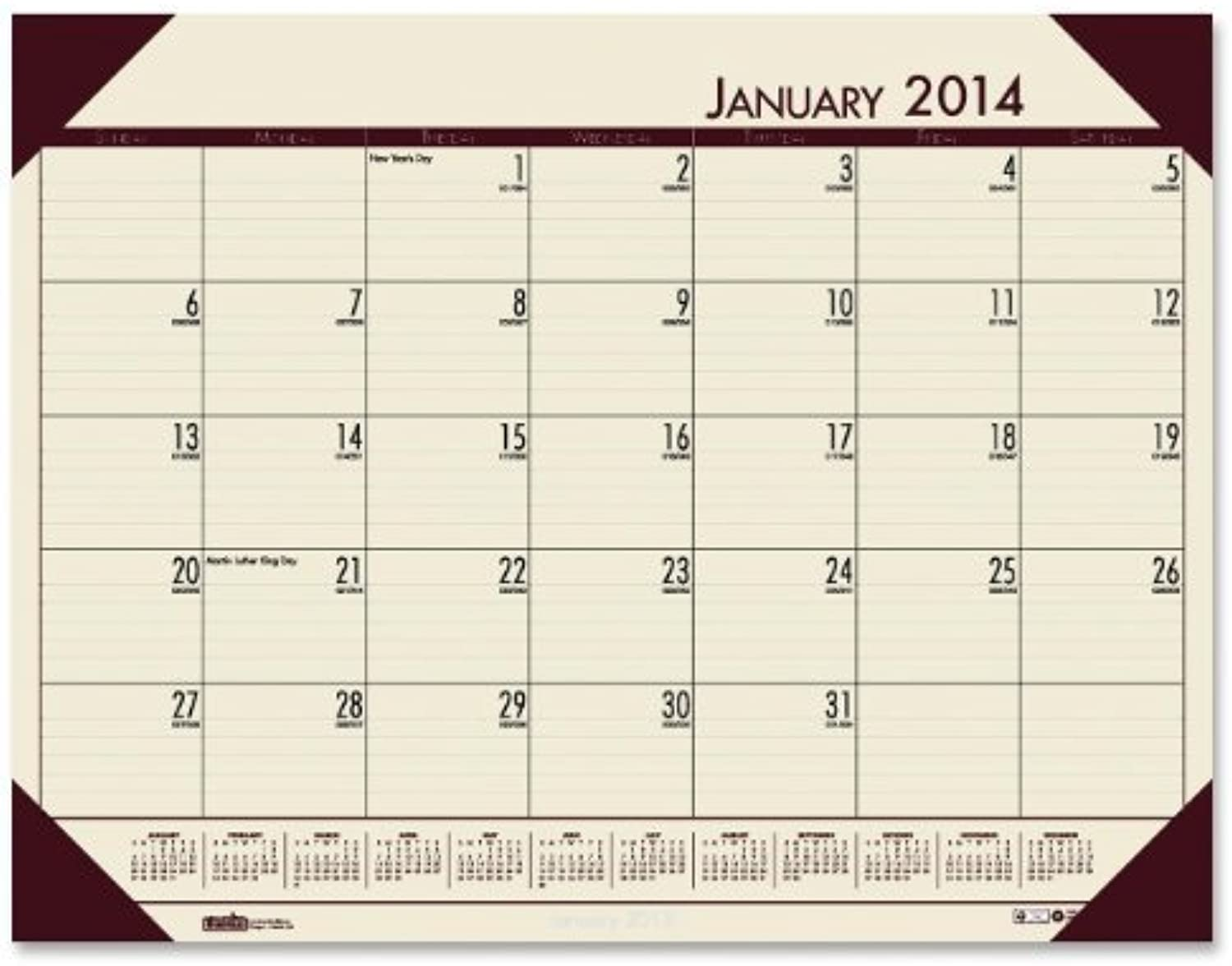 House of Doolittle EcoTone Tan Desk Pad Calendar 22 x 17 Inches 12 Months January 2014 to December 2014 Recycled (HOD12443) by House of Doolittle B0141N6SBG | Modern