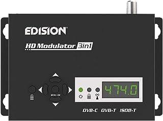 Edision HDMI MODULATOR 3in1, Modulatore RF HDMI monocanale a cavo DVB-C, DVB-T terrestre o ISDB-T MPEG4, 3 SEGNALI di modu...