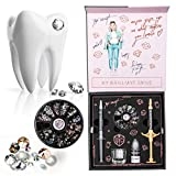 Teeth Gems Box Professional Teeth Gems Kit – Tooth Jewlery Kit – Fashionable Removable Tooth Ornaments – Includes 280 Gems in 10 Colors and 2 Sizes to Decorate Your Teeth for Any Occasion