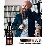 4 Pack Beard Oil Set Leave in Conditioner, Cedarwood, Sandalwood, Sage, Sweet Orange for Men Mustaches Growth, Soften… 5
