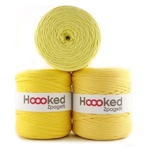 Hoooked Zpagetti Textilgarn 120 m Rolle alle Farben zur Wahl (hellgelb)
