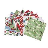 coil.c Weihnachten Patchworkstoffe, 100 Stück Weihnachts